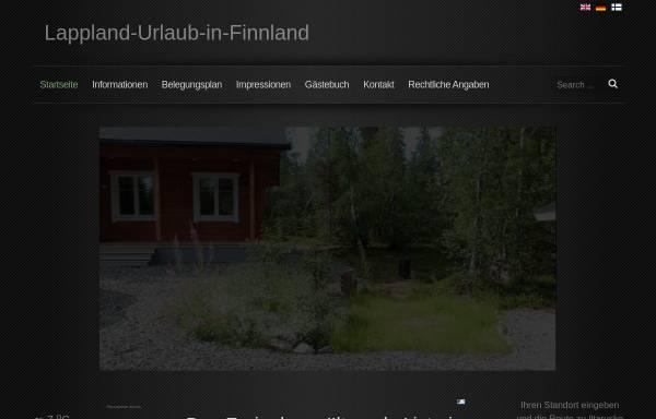 Vorschau von www.lappland-urlaub-in-finnland.de, Ferienhaus Iltarusko