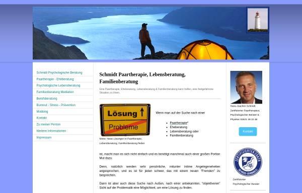 Vorschau von www.schmidt-beratung-coaching.de, Schmidt Praxis für Psychologische Beratung / Personal Coaching