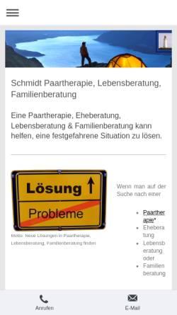 Vorschau der mobilen Webseite www.schmidt-beratung-coaching.de, Schmidt Praxis für Psychologische Beratung / Personal Coaching