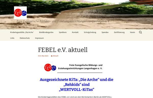 Vorschau von www.febel-ev.de, Febel - Freie Evangelische Bildungs- und Erziehungseinrichtungen Langenhagen e.V.