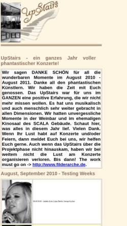 Vorschau der mobilen Webseite www.upstairs-esslingen.de, UpStairs - Weinbar und Livemusik