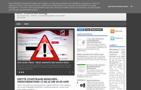 Vorschau von der-technik-blog.blogspot.com, Technik Blog