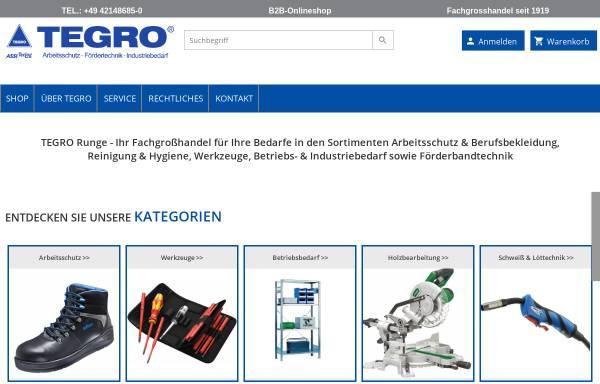 Vorschau von www.tegro-runge.de, Tegro Runge GmbH