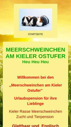 Vorschau der mobilen Webseite www.meerschweinchen-am-kieler-ostufer.de, Meerschweinchen am Kieler Ostufer