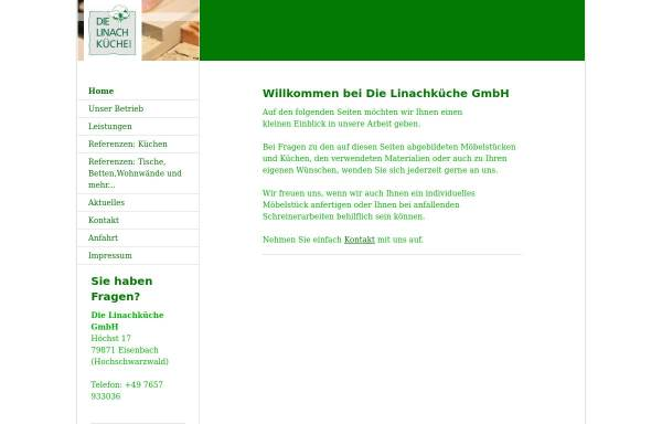Vorschau von www.linachkueche.de, Linach Küche GmbH