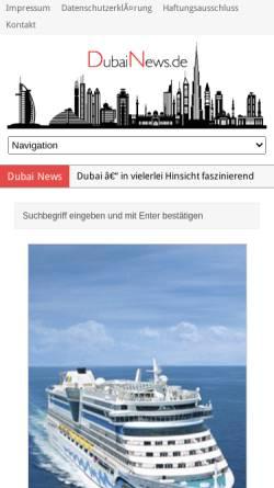 Vorschau der mobilen Webseite www.dubainews.de, Dubai News