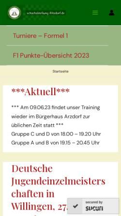 Vorschau der mobilen Webseite www.schachabteilung-fritzdorf.de, Schachabteilung des Tischtennisclubs