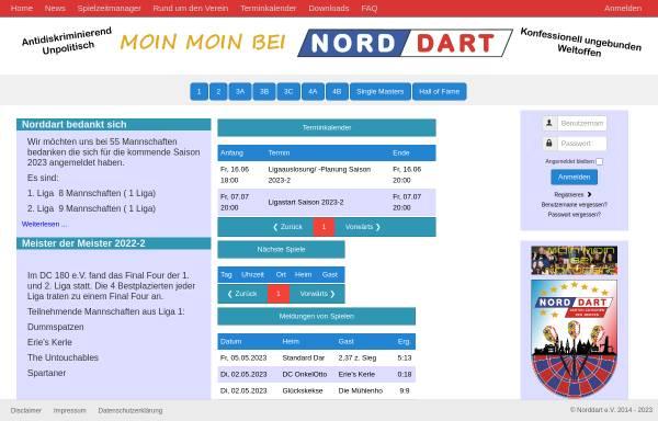 Vorschau von www.norddart.de, Dartliga Norddart e.V.