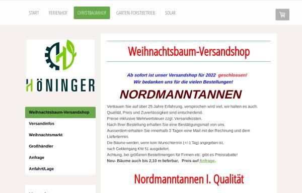 Vorschau von www.weihnachtsbaumversand.info, Christbaumhof Familie Höninger