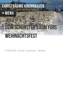 Vorschau der mobilen Webseite www.christbaeume-krennbauer.at, Familie Krennbauer