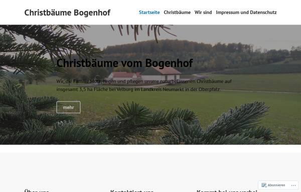 Vorschau von www.bogenhof.com, Christbäume Bogenhof - Familie Mutz