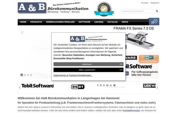 Vorschau von www.frankiersysteme.de, A&B Bürokommunikation, Inh. Jens Behre