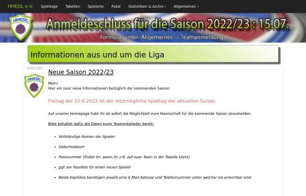 Vorschau von www.hhedl.de, Hamburg-Holstein E-Dart Liga