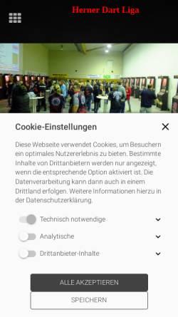 Vorschau der mobilen Webseite www.hernerdartliga.info, Herner Dart Liga