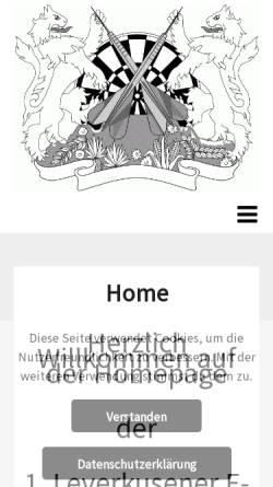 Vorschau der mobilen Webseite www.lev-dartliga.eu, Leverkusener E-Dart Liga