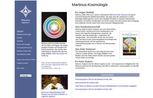 Vorschau von www.martinus.dk, Martinus Institut