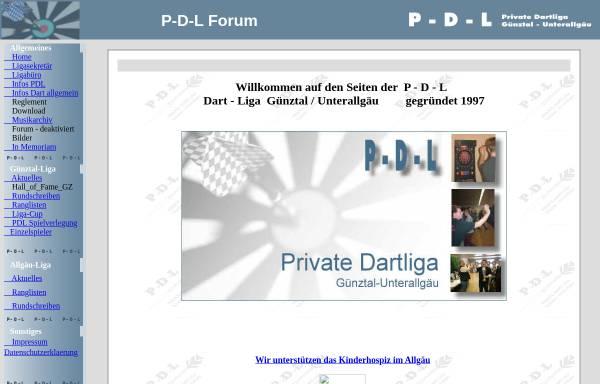 Vorschau von www.raeuber.de, Private Dart Liga Günztal