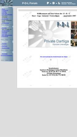 Vorschau der mobilen Webseite www.raeuber.de, Private Dart Liga Günztal