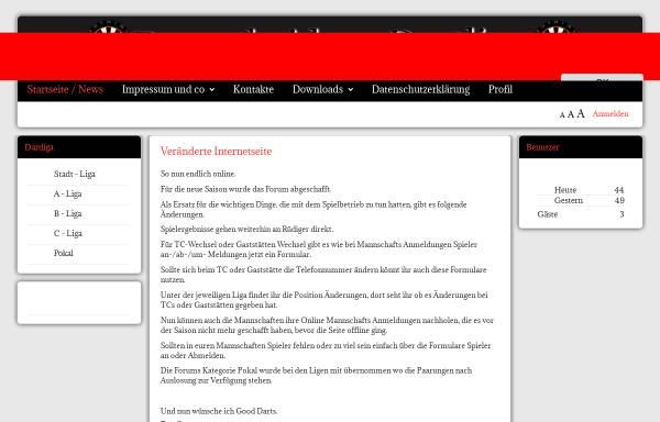 Vorschau von www.remscheider-dartliga.de, Remscheider Dartliga