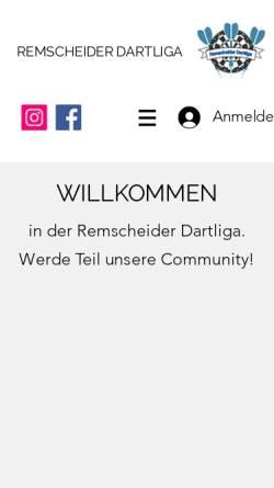 Vorschau der mobilen Webseite www.remscheider-dartliga.de, Remscheider Dartliga