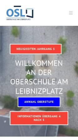 Vorschau der mobilen Webseite www.leibnizplatz.de, Oberschule am Leibnitzplatz