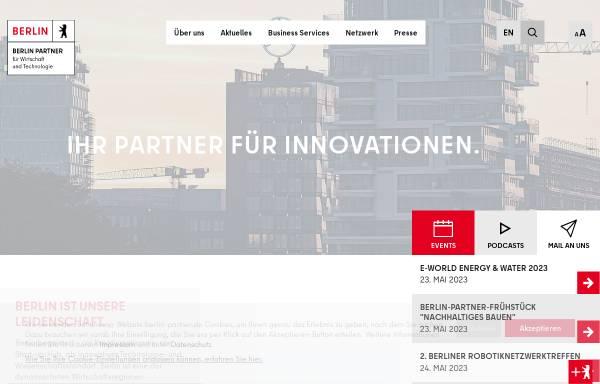 Vorschau von www.berlin-partner.de, Berlin Partner GmbH
