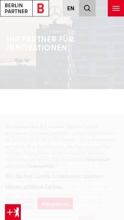 Vorschau der mobilen Webseite www.berlin-partner.de, Berlin Partner GmbH