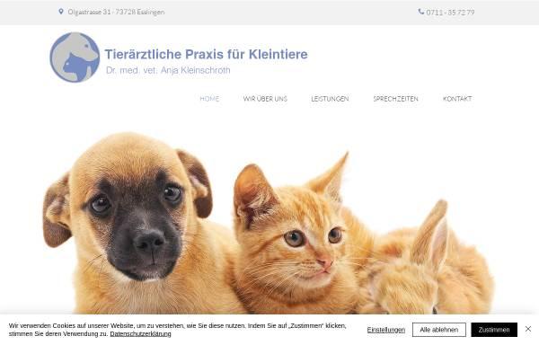 Vorschau von www.kleinschroth.info, Tierarztpraxis Dr. Kleinschroth