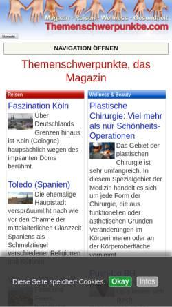 Vorschau der mobilen Webseite www.themenschwerpunkte.com, Themenschwerpunkte