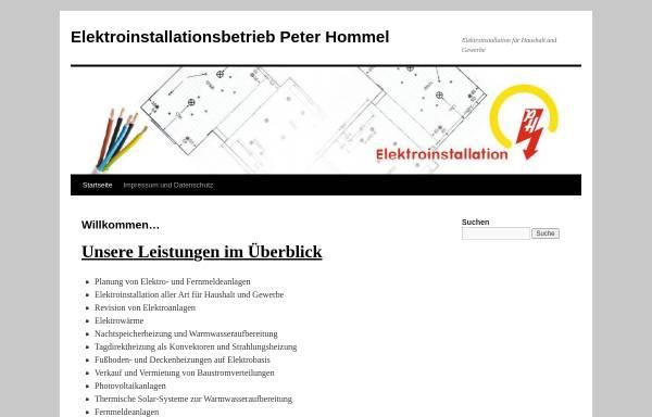 Vorschau von www.elektro-hommel.de, Elektroinstallationsbetrieb Hommel