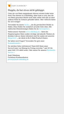 Vorschau der mobilen Webseite www.oldenburg.de, Oldenburger Lambertimarkt - Stadt Oldenburg