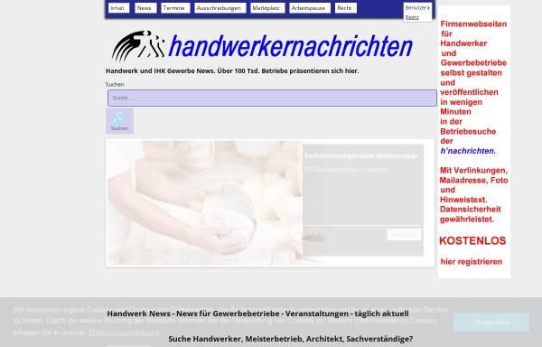 Vorschau von www.handwerkernachrichten.com, Handwerk und Gewerbe - Jack Hauswald