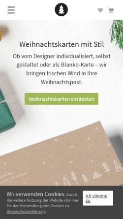 Vorschau der mobilen Webseite www.designer-weihnachtskarten.de, Designer Weihnachtskarten