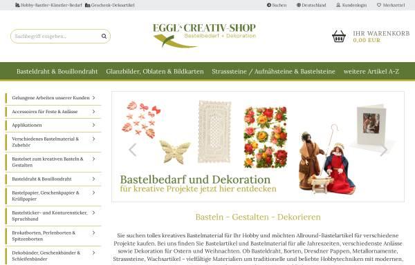 Vorschau von www.eggl-creativ.de, Eggl Creativ Shop