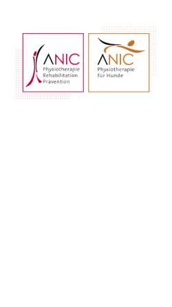 Vorschau der mobilen Webseite www.anic-physio.de, Anic Physiotherapie