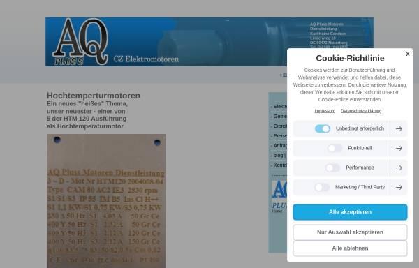 Vorschau von www.aqpluss.de, AQ Pluss Motoren Dienstleistung - Karl-Heinz Gendner