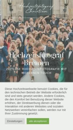 Vorschau der mobilen Webseite ca-hochzeitsfotografie.de, de Groot, Christian-Arne