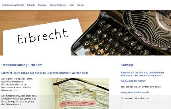 Vorschau von www.erbrechts-berater.de, Hillebrand, Reinhard