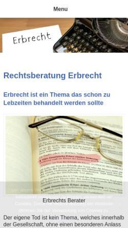 Vorschau der mobilen Webseite www.erbrechts-berater.de, Hillebrand, Reinhard