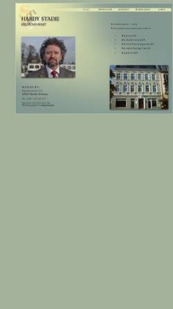 Vorschau der mobilen Webseite www.rechtsanwalt-stadie.de, Rechtsanwalt Hardie Stadie
