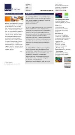 Vorschau der mobilen Webseite www.unger-partner.biz, Rechtsanwälte und Steuerberater Unger & Partner
