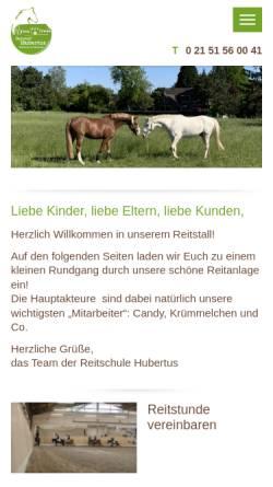 Vorschau der mobilen Webseite www.reitstall-hubertus.de, Reitschule Hubertus