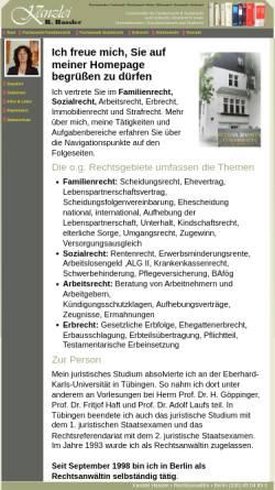 Vorschau der mobilen Webseite www.kanzlei-hassler.de, Rechtsanwältin Bettina Hassler