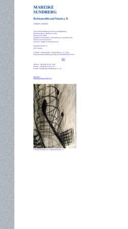 Vorschau der mobilen Webseite www.sundberg.de, Rechtsanwältin und Notarin Mareike Sundberg