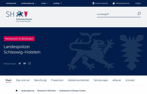 Vorschau von www.polizei.schleswig-holstein.de, Polizei Flensburg