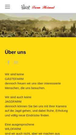 Vorschau der mobilen Webseite www.farm-heimat.com, Farm Heimat