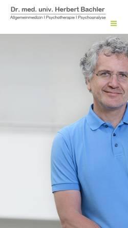 Vorschau der mobilen Webseite dr-bachler.at, Dr. Herbert J. Bachler