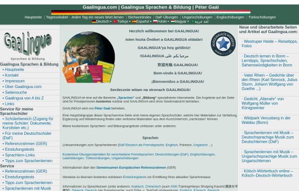 Vorschau von www.gaalingua.com, Gaalingua Sprachen & Bildung Péter Gaál