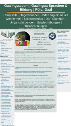 Vorschau der mobilen Webseite www.gaalingua.com, Gaalingua Sprachen & Bildung Péter Gaál