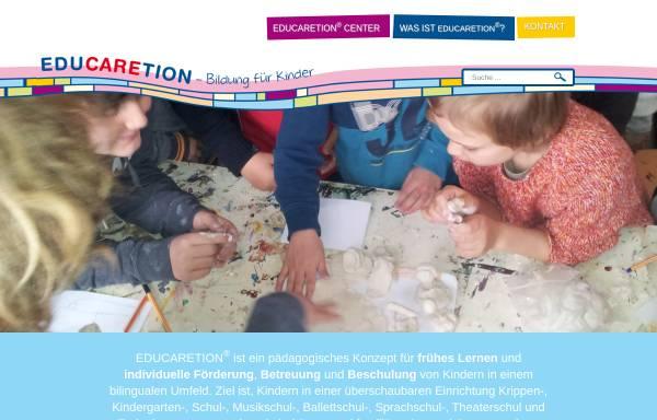 Vorschau von www.educaretion.de, Educaretion Center Langenhagen - Gemeinnützige Gesellschaft für ganzheitliche Pädagogik mbH